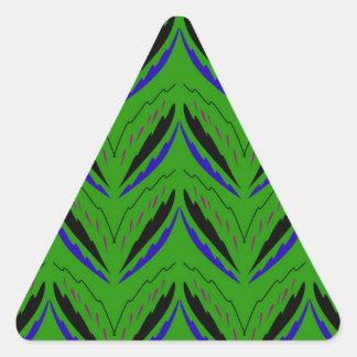 Adesivo Triangular Eco verde dos elementos do design