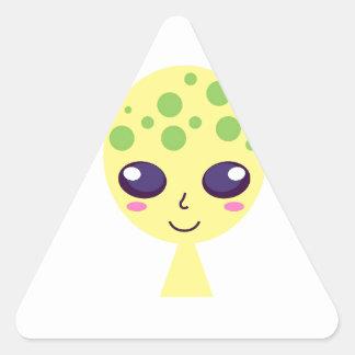 Adesivo Triangular Edição verde estrangeira bonito pequena