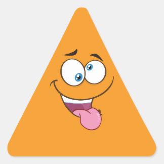 Adesivo Triangular Emoji quadrado pateta parvo