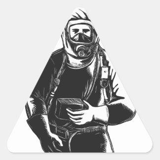 Adesivo Triangular EMT que veste o terno Scratchboard de Hazmat