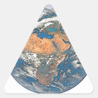 Adesivo Triangular Enterre a vista focalizada no berço da civilização