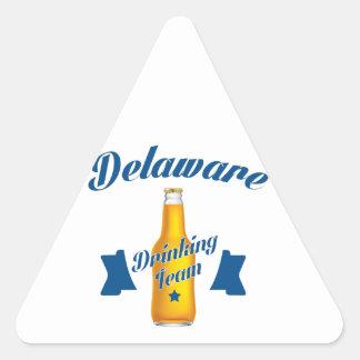 Adesivo Triangular Equipe do bebendo de Delaware