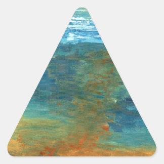 Adesivo Triangular Era o mar