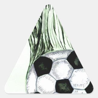 Adesivo Triangular Esboço 4 da bola de futebol