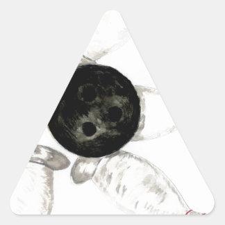 Adesivo Triangular Esboço da bola de boliche
