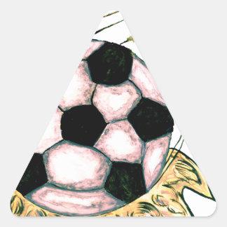 Adesivo Triangular Esboço da bola de futebol