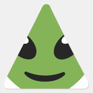 Adesivo Triangular Espaço verde estrangeiro
