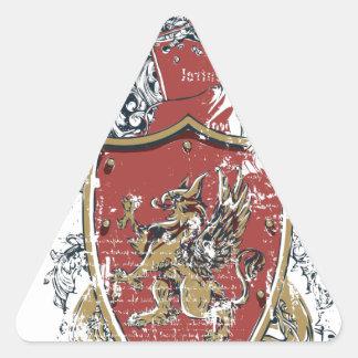 Adesivo Triangular espadas e design vermelho