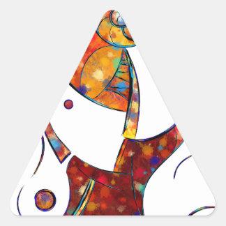 Adesivo Triangular Espanessua - flor espiral imaginária