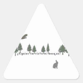 Adesivo Triangular Espanhol-Floresta
