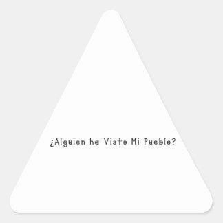 Adesivo Triangular Espanhol-Vila