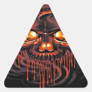 Adesivo Triangular Esqueletos vermelhos sangrentos