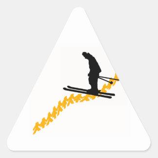 Adesivo Triangular Esquiam as pessoas