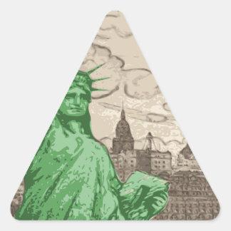 Adesivo Triangular Estátua da liberdade clássica