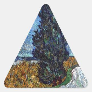 Adesivo Triangular Estrada secundária de Vincent van Gogh em Provence
