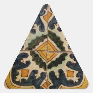 Adesivo Triangular Estrela turca do amarelo do azulejo do vintage do