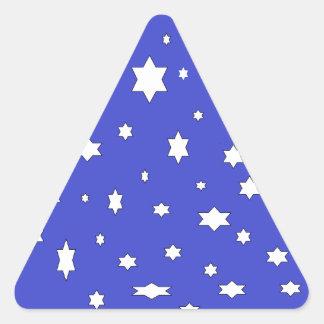 Adesivo Triangular estrelado-nite