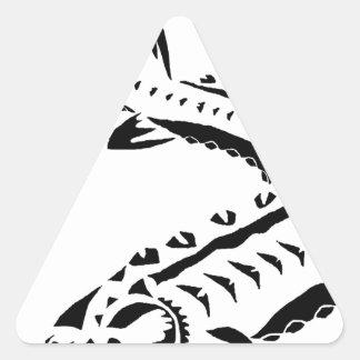 Adesivo Triangular Esturjão tribal - beluga de Huso