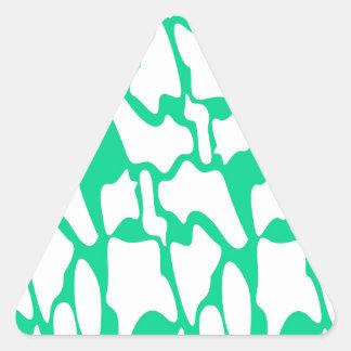 Adesivo Triangular Ethno do eco dos elementos do design no branco