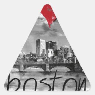 Adesivo Triangular Eu amo Boston