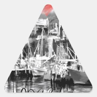Adesivo Triangular Eu amo Hobart