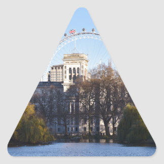 Adesivo Triangular Eu amo Londres!