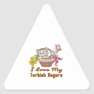 Adesivo Triangular Eu amo meu angora turco