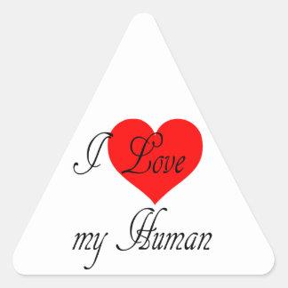Adesivo Triangular Eu amo meu ser humano