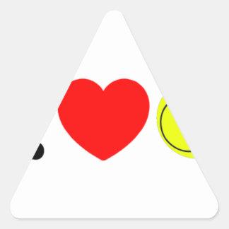 Adesivo Triangular Eu amo o tênis