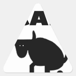 Adesivo Triangular eu chamo-o força do touro