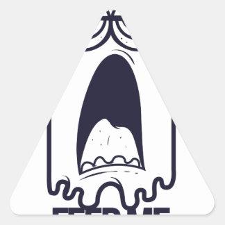 Adesivo Triangular eu estou com fome alimento-me humano