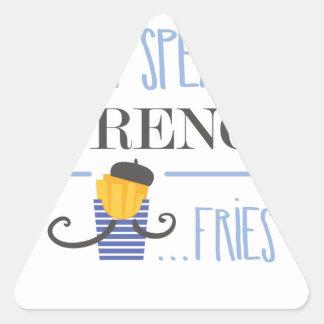 Adesivo Triangular Eu falo o francês… Fritadas