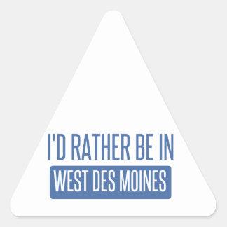Adesivo Triangular Eu preferencialmente estaria em Des Moines