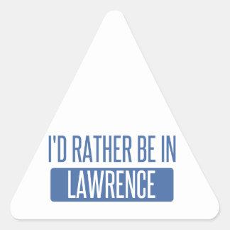 Adesivo Triangular Eu preferencialmente estaria em Lawrence DENTRO