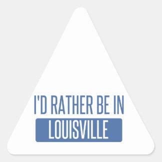 Adesivo Triangular Eu preferencialmente estaria em Louisville