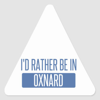 Adesivo Triangular Eu preferencialmente estaria em Oxnard