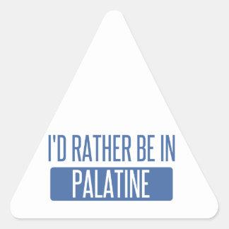 Adesivo Triangular Eu preferencialmente estaria em Palatine