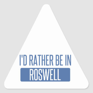 Adesivo Triangular Eu preferencialmente estaria em Roswell GA