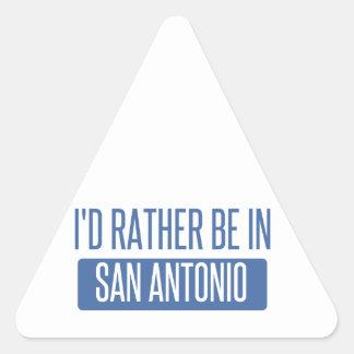 Adesivo Triangular Eu preferencialmente estaria em San Antonio