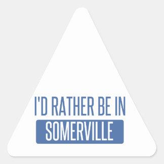 Adesivo Triangular Eu preferencialmente estaria em Somerville