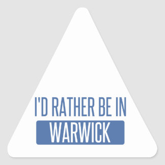 Adesivo Triangular Eu preferencialmente estaria em Warwick