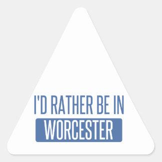 Adesivo Triangular Eu preferencialmente estaria em Worcester
