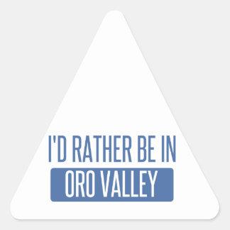 Adesivo Triangular Eu preferencialmente estaria no vale de Oro
