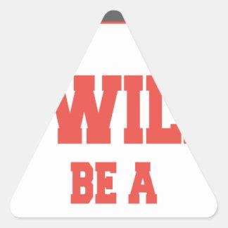Adesivo Triangular Eu serei um Bodybuilder