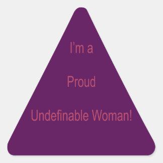 Adesivo Triangular Eu sou Undefinable