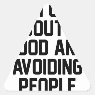 Adesivo Triangular Evitando pessoas