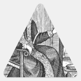 Adesivo Triangular Experimentação do Natal do pai