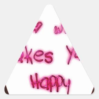 Adesivo Triangular faça o que faz u feliz
