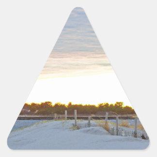 Adesivo Triangular Farol no por do sol