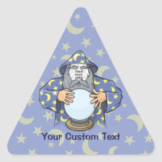 Adesivo Triangular Feiticeiro com sua cara